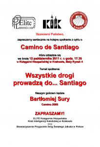 """Spotkanie z cyklu """"Camino de Santiago"""""""